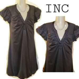 INC black shimmer doll dress. Sz Lrg
